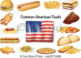 american food clipart. Plain Clipart Different Common American Food Set  Csp33710488 And Food Clipart Can Stock Photo