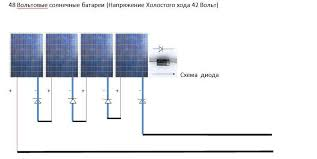 Эл схема подключения солнечных батарей