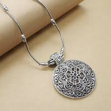 details about new vintage silver necklaces chain hollow carved flower metal necklaces pendants