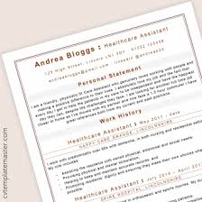 Cv Template For Care Assistant Page 6 222 Free Cv Templates In Microsoft Word