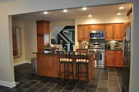 Brick Flooring In Kitchen Modern Interior Kitchen Design With Black Brick Floor Idea Waraby