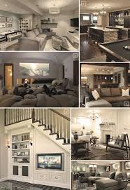 Basement ideas on pinterest Basement Bar Fun And Comfortable Space 1 Some Ways To Make The Basement Family Room More Fun And Entertaining Would Be To Have Pool Table 2 Or Pit Pinterest Turning Basement Into Family Room Designs Ideas Living