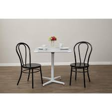 black metal dining chairs. OSPdesigns Odessa Solid Black Metal Dining Chair Set Of 2 Chairs U