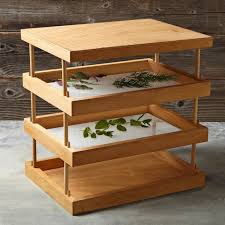 wooden herb drying rack ws gardenista jpg