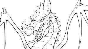 Colouring Picture Of Dragon Efteling Kids