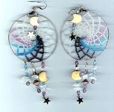 Dream Catcher Earing Large Beaded Dream Catcher Earrings Sova Enterprises 88