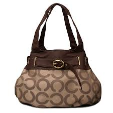 Coach Buckle In Signature Large Coffee Hobo ENC Adds A Brighter And More  Colourful Hue To