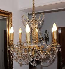 Prunkvoller Antiker Lüsterkronleuchterkristall Prismen 6