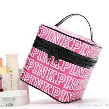 vs love pink cosmetic bag pink double zipper jpg