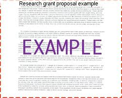 Research Grant Proposal Example Examples Of Successful Proposals ...