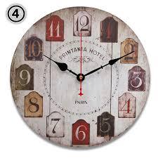 beautiful decoration rustic wooden wall clocks round vintage rustic wooden wall clock quartz movement alex nld