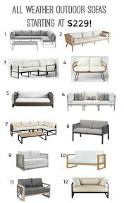 all weather outdoor sofas on a budget