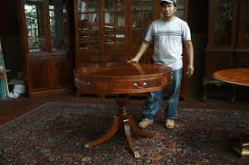 mahogany drum table mahogany accent table duncan phyfe drum table