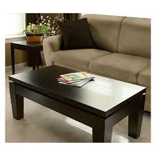 dark brown wooden modern coffee table fit in the classic living room
