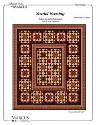 Pinterest • The world's catalog of ideas & Scarlet Evening by Heidi Pridemore Free Quilt Pattern (direct link to PDF) Adamdwight.com