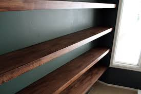 Small Picture DIY Solid Wood Wall to Wall Shelves Chris Loves Julia