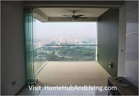 singapore private property fully opened frameless door beautiful balcony city view 300x207 official site of latest seamless design link from living room