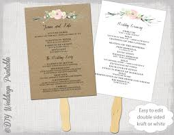 Wedding Ceremony Program Template Fans