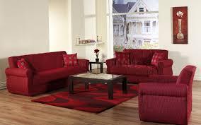 room design red sofa