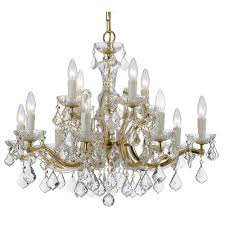 elight design crystal 30 inch 12 light gold chandelier