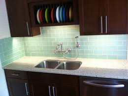 kitchen backsplash glass tile white cabinets. Surf Glass Subway Tile Kitchen Backsplash White Cabinets E