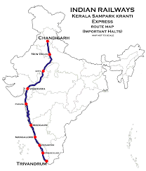 Indian Railway Route Chart Thiruvananthapuram Hazrat Nizamuddin Express Via