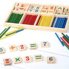 Wooden Math Games Montessori Wooden Number Math Game Sticks Educational Toy Puzzle 47