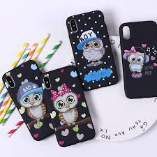 cute owl hearts lover soft silicone phone case fundas coque cover for iphone 5 5se 7 7plus 6 6s 8 8plus x make your own phone case cell phone