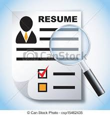 Resume And Job Search Clipart