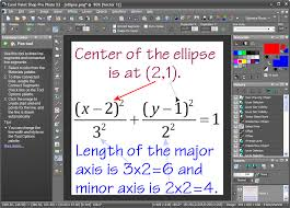 using a paint program to annotate an equation