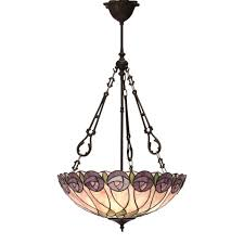 hutchinson tiffany large inverted pendant light
