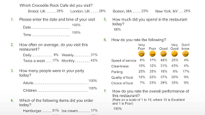 Surveys Questionnaires Examples Survey Reporting Snap Surveys