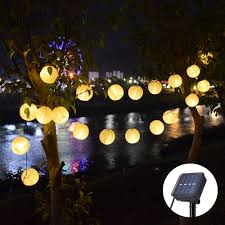 Christmas Outdoor Lights At Lowest Prices Us 10 37 39 Off Garland Solar String Lights Lantern Ball 10 20 Led Solar Outdoor Lighting Christmas Decorative For Party Holiday Fairy Lights In