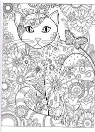 Small Picture cat Abstract Doodle Zentangle Coloring pages colouring adult