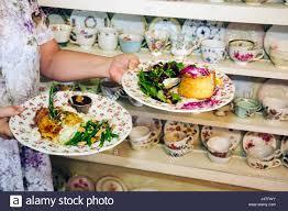 mount dora florida mt historic downtown garden gate tea room tearoom parlor restaurant business fine china victorian display pl