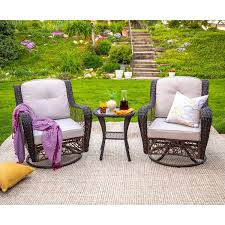 outdoor brown rattan motion chair with side table set pier 1 pier one outdoor side tables