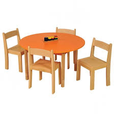 height adjule round table orange