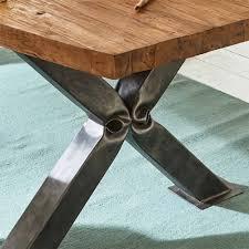 Loft Design Tisch Mit Altholz Teak Stahl Pluro Wohnende