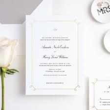 Foil Elegant Scroll Wedding Invitation Suites Paper Culture