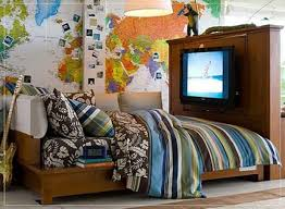 kids bedroom with tv. Bedroom:Stunning Boys Bedroom Ideas With TV Above Wooden Cabinet For Small Kids Tv H