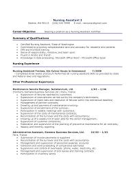 resume for cna sample
