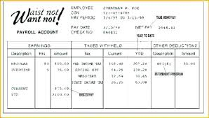 Sample Paycheck Stubs Proposal Review Free Hidden Template