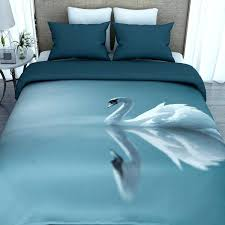 indian print cotton duvet covers printed cover with 2 pillowcases swan on printed duvet covers