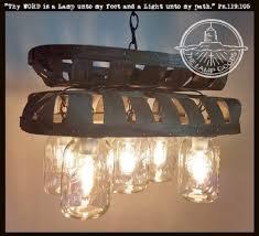 image chandelier lighting. Tobacco Basket 5-Light Mason Jar CHANDELIER Image Chandelier Lighting A