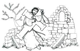 St Francis Of Assisi Colouring Pages St Of Coloring Page Of Coloring