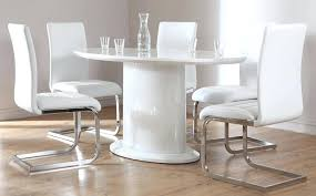 round white gloss dining table white high gloss oval dining table and 4 chairs set round