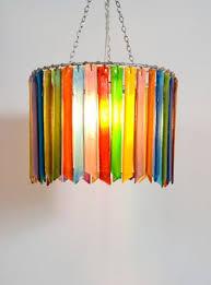 rainbow rhapsody single chandelier lampshade