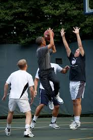 Us Cabinet Secretaries Filebarack Obama Playing Basketball With Members Of Congress And
