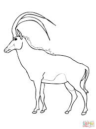 Small Picture Wooded Savannah Sable Antelope coloring page Free Printable