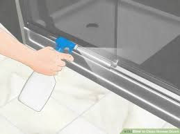 if your sliding shower door is showing any signs of mildew or mold then you will need to use a bleaching agent such as vinegar place the undiluted bleach